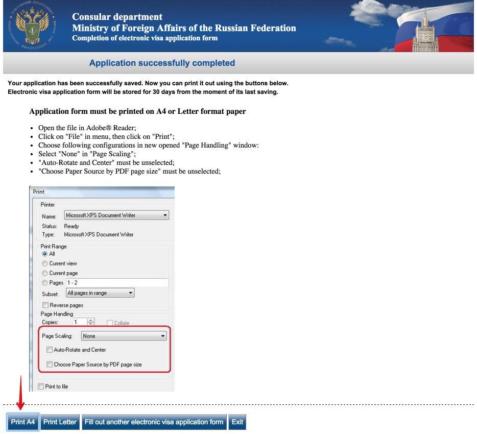 Visum aanvraagformulier Rusland 10