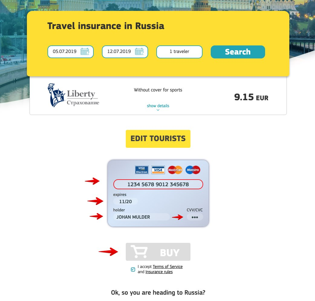 Cherehapa Travel Insurance Russia 2